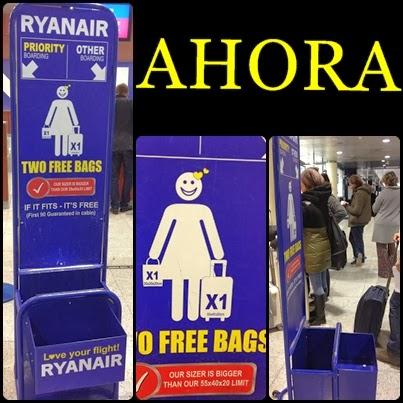tinta Él mismo logo  Cambio en el equipaje de cabina de Ryanair - Mochileo Low Cost. Blog de  diarios de viaje