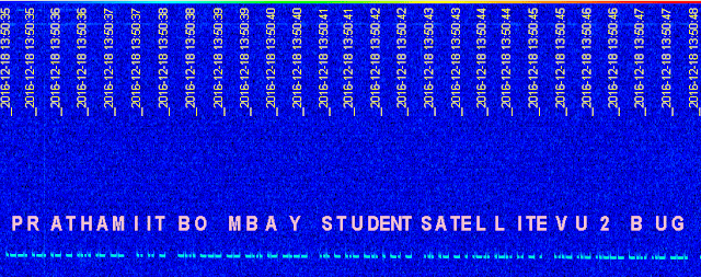 PRATHAM CW Beacon Signal at SpectraVue