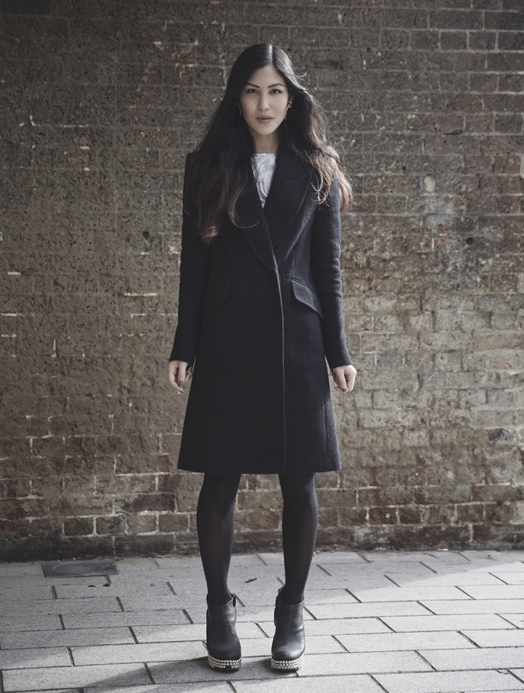 Euriental || fashion & luxury travel || YMC coat, Jeffrey Campbell wedges, ASOS marble dress.
