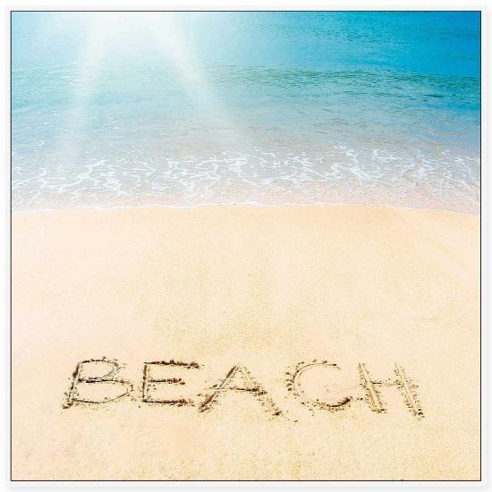 Beach Photo with Sand Writing