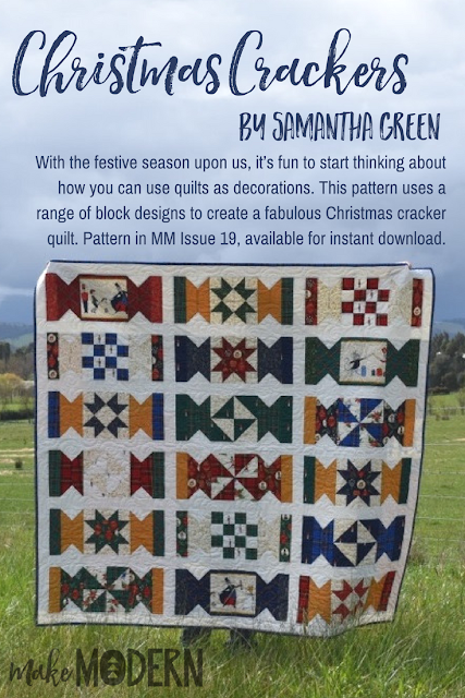 Make Modern Issue 19 Christmas Crackers quilt Samantha Green