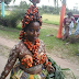 Nigerian Woman Design Body Wear With Palm Fruits