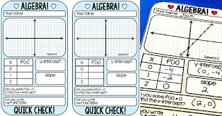 algebra warm up template for linear equations
