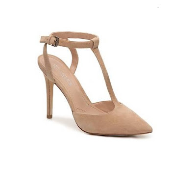 Charles by Charles david Nude closed toe heels