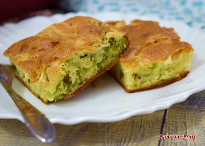 Torta fácil de liquidificador com brócolis