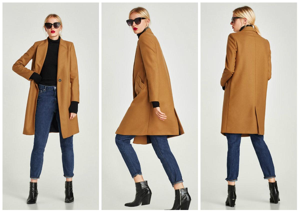 Παλτό σε ανδρικό κόψιμο με γιακά σε στυλ πουκαμίσου και μακρύ μανίκι.  Πλαϊνές τσέπες με καπάκι και κλείσιμο μπροστά με δύο κουμπιά. f9d367b9368