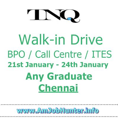 Walk-in Drive for Freshers any graduate - TNQ - chennai