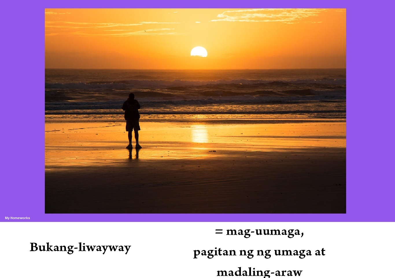 My Homeworks Tambalang Salita Bukang Liwayway