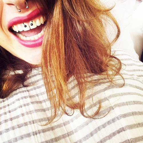 smiley piercing taktırma