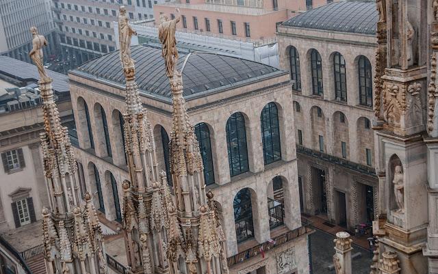 Vistas desde lo alto del Duomo de Milán
