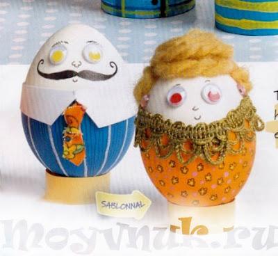 Поделки из яиц, фото