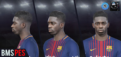 PES 2018 FC Barcelona Faces and Tattoos RePack by bmS