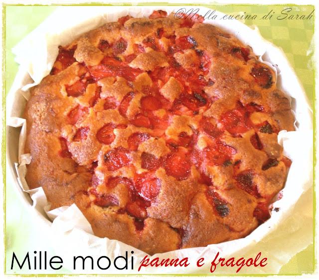 mamma facciamo merenda? ~ torta mille modi panna e fragole