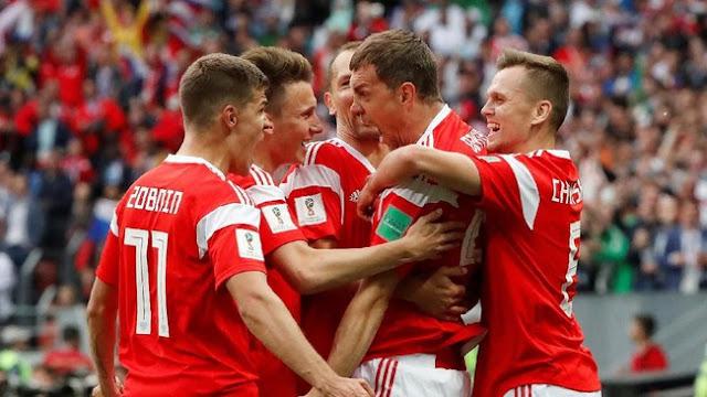 Rusia Gebuk Arab Saudi 5-0 di Laga Pembuka Piala Dunia 2018