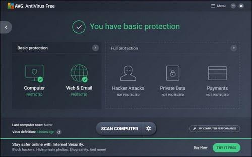 antivirus gratis AVG 2017
