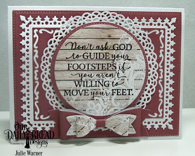 Our Daily Bread Designs Stamp Set:God Quotes 2, Custom Dies: Fancy Circles, Lavish Layers, Pierced Rectangles, Pierced Circles, Circles, Small & Medium Bows, Paper Collection:  Romantic Roses