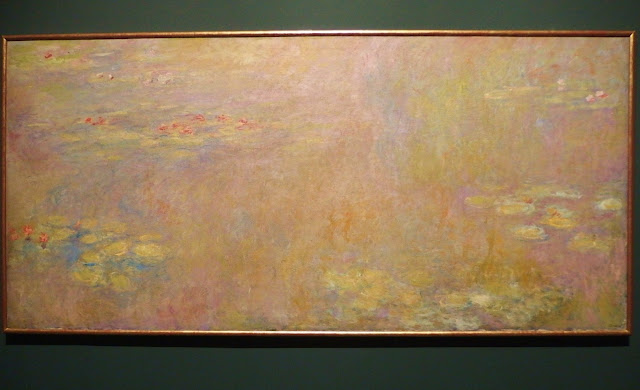 One of Monet's huge water lily paintings painted after WW1
