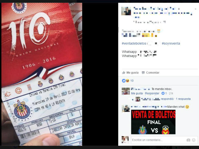 En Facebook circulan fotografías de los pases al evento que se desarrollará el 19 de abril.