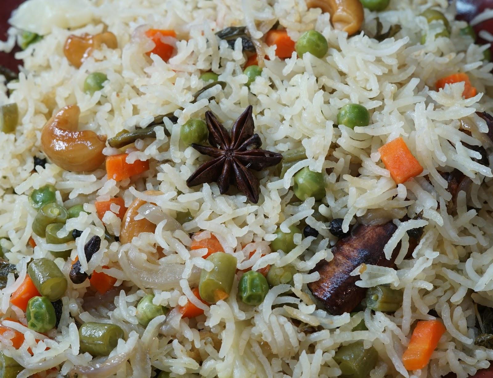Vegetable Pulao Recipe   Steffi's Recipes