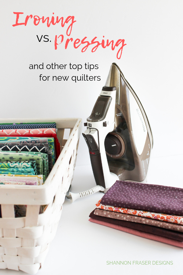 "Press don't Iron! | Best Tips for New Quilters + How to find a 1/4"" seam allowance 