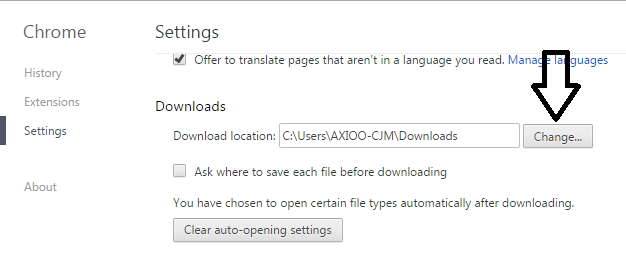 Mengatur lokasi penyimpanan download pada chrome
