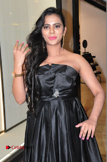 Actress Manasa Himavarsha Pictures in Black Short Dress at The Great Hydrerabad Life Style EXPO II 0017