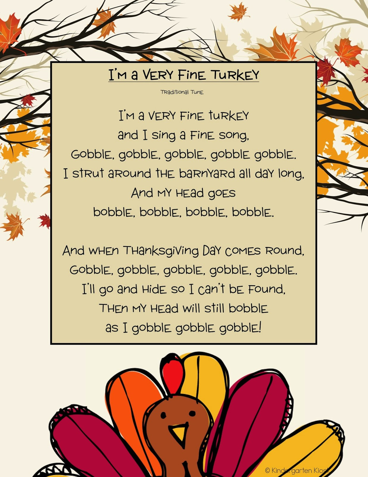 Kindergarten Kiosk Thanksgiving Fun Amp A Freebie
