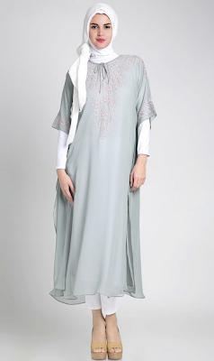 Model Baju Gamis Hamil Untuk Kerja Modern Terbaru