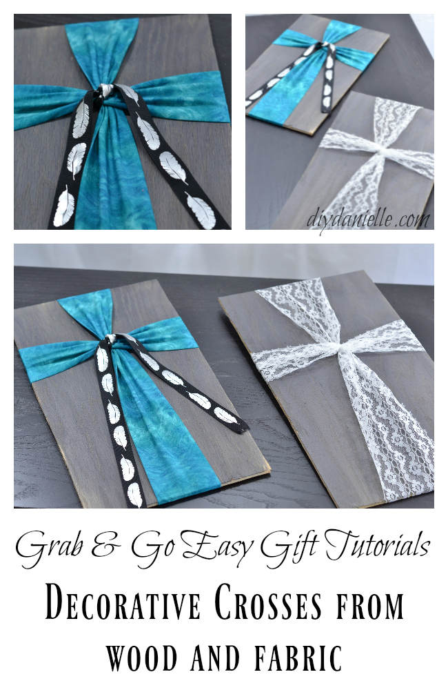How to Make Easy Fabric and Wood Crosses | DIY Danielle
