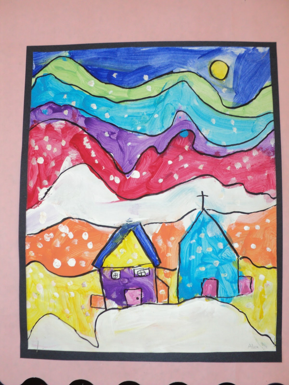 Line Art Grade 1 : Ted harrison paintings grade onederful