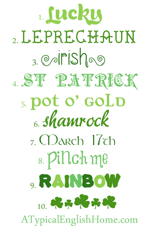St. Patrick's Fonts