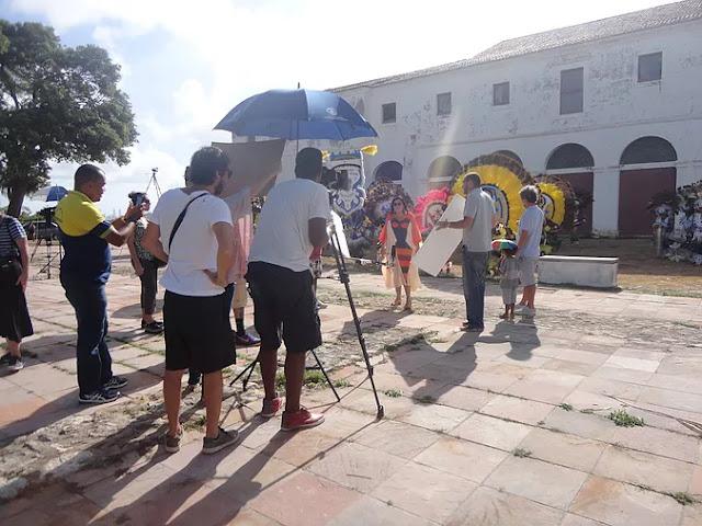 Caboclinhos de Goiana gravam para programa de TV