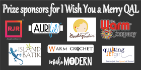 Grand prize sponsors for I Wish You a Merry Quilt Along