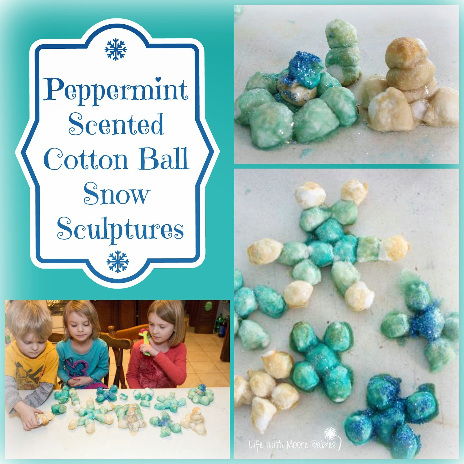 How to Make Peppermint Scented Cotton Ball Sculptures