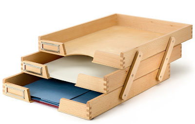 beech wood filing / paper trays