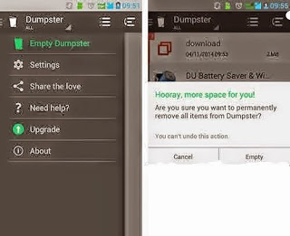 Cara Mudah Kembalikan Data sudah Terhapus di Android dengan Dumpster [No Root + PC]