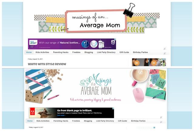 new blog header design