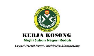 Jawatan Kosong di Majlis Sukan Negeri Kedah