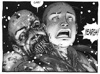 The Walking Dead black and white comic panel