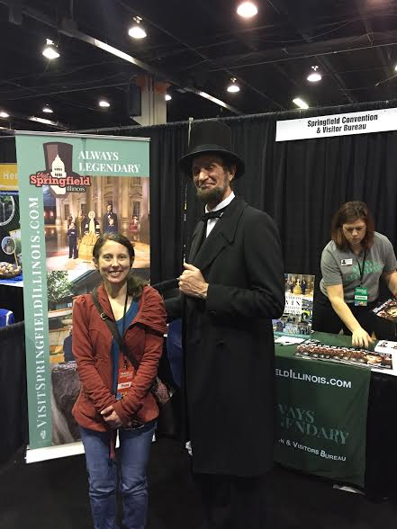 President Lincoln makes an appearance at the Chicago Travel and Adventure Show