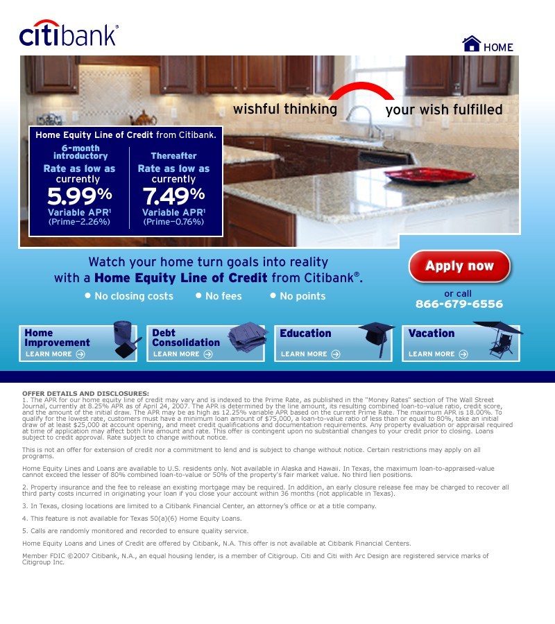 Citibank Home Equity Loan Rates Avie