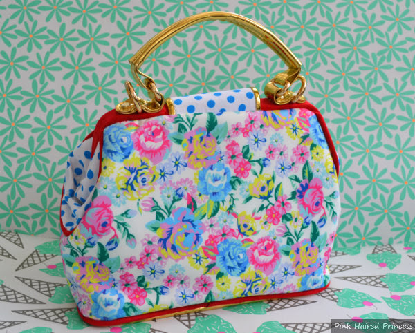 irregular choice disney chip n dale floral bag back view