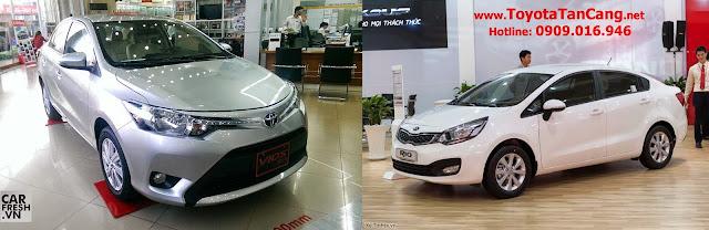 """vios 2014 va kia rio sedan 2015 -  - Toyota Vios 2014 và Kia Rio 2015 sedan : Nên """"Chọn mặt gửi vàng"""" xe nào ?"""