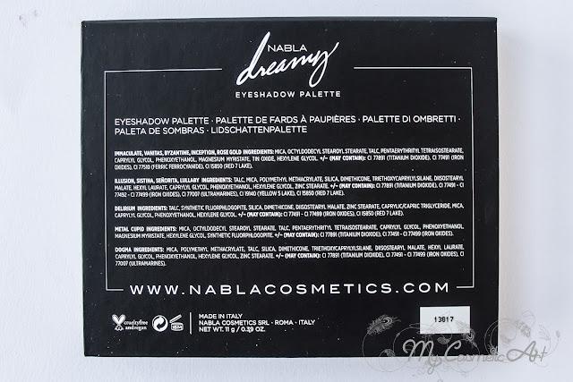 Dreamy, la nueva paleta de sombras de Nabla. ¡Swatches!