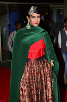 Manchu Lakshmi in a Strange Green Saree at 64th Jio Filmfare Awards South ~  Exclusive 003.JPG