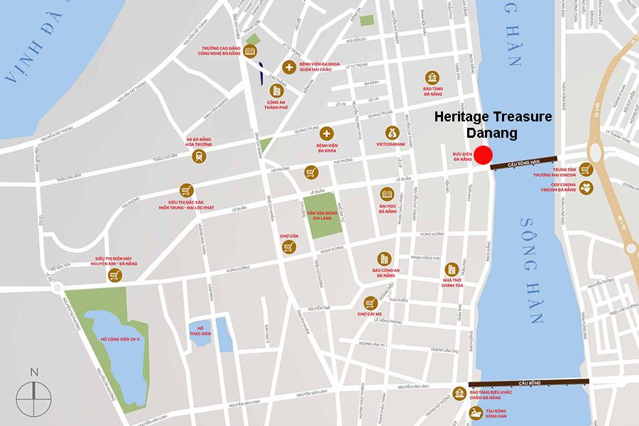 Vị trí Căn hộ Heritage Treasure Danang