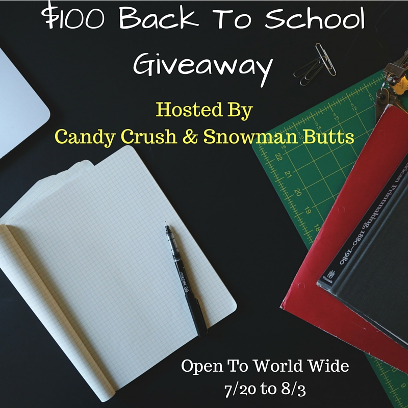 Happily Ever Rushed: $100 Back to school PayPal Giveaway