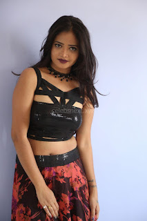 Shriya Vyas in a Tight Backless Sleeveless Crop top and Skirt 129.JPG