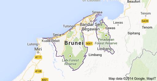 (Peta Negara Brunai Darussalam)