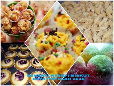 Senarai Resepi Biskut Raya Yang Popular 2018